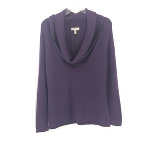 Joie Small Purple Cowl Neck Wool Cashmere Sweater
